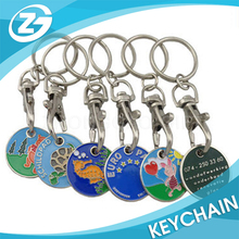 supermarket token coin holder key ring with Variety of design