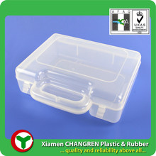 PP plastic injection, OEM, clear carrying case