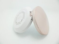 concave mirror wholesales small round plastic folding mirror for makeup and promotion with OEM/ODM image