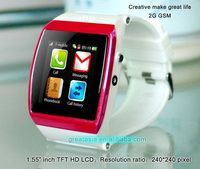 Contemporary latest android smart hand watch mobile phone