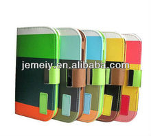 Hybrid PU Leather Wallet Flip Pouch Stand Cell Phone Case For Samsung Galaxy S4 i9500