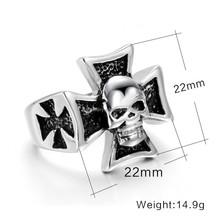 Fashion Steel Skull Ring Biker Ring For Men Wholesale