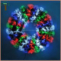 Christmas decorative fiber optic wreath