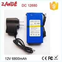 Used widely DC-12680 12V 6800mAh li-on polymer rechargeable battery powered camping heater