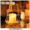 Chama LED Candle exotic perfume vela com suporte de vela de bambu