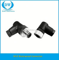 low price can bus m12 connector cable with watertight connector 3p 4p 5p 8p 12p