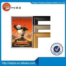 mitred corner golden&black aluminum high quality powder coated snap frames