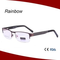 Rainbow eyeglass frames stainless steel frame spectacle frames china MM14130