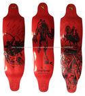 2014 fibra de carbono Nova União Oriental plataforma do longboard downhill(vermelho)