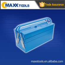 Two layer metal tool box,empty tool box,in a variety of colors