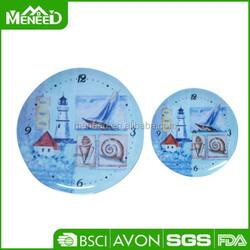 "Creative new design Clock design city bulilding style 8"" & 10 "" melamine salad plate"