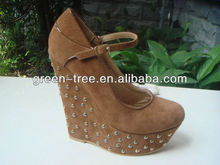 Lady shoes wedges