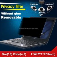 180 Degree 2 Way 4H Hardness Computer Privacy Dark Anti-peek anti spy screen protector for laptop