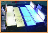 stair shape acrylic cosmetic display counter led lucite make up organizer