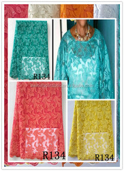 2015 high top quality beaded lace tulle fabric / cheap price african net lace cheap price