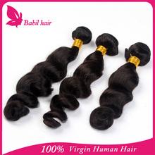 Great length virgin loose wave high quality brazlian hair wholesale