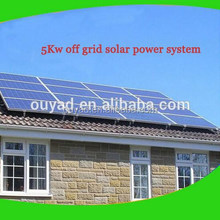 complete unit 5KW off grid solar system for home use