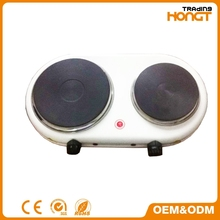 Double Solid Electric Hot Plate,Electric Cooker with Cast Iron Heating Element