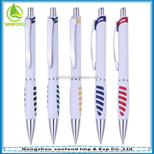 Office & School Supplies Hot Selling Plastic Ballpoint Pen with Metal Clip