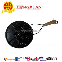 top grill pan with black enamel coated/bbq/gas/electric stove-top grill-7.5''
