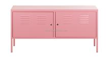 (DL-TV1) Factory Wholesale KD Pink 0.6 mm Steel TV Bench/Steel TV Cabinet