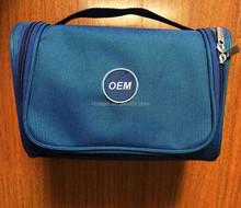 600D Two Tone Oxford Folding Travel Hanging Toiletry Bag, Hanging Wash Gargle Bag, Waterproof Make up Bag