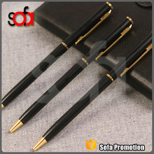 2015 hot sale high quality black metal pen cooperated gift pen