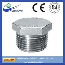 stainless steel threaded pipe plug, hex head plug, square head plug