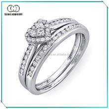 High Quality fashionable lover rings silver