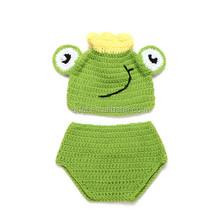 Hot Green Frog Crochet Hat Baby Boy/Girl Crochet Frog Animal Beanie Hat Cute Baby Crochet Hat