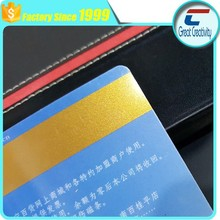 """PVC-Cards Gold Mag stripe card - 1/2"""" HiCo. magnetic stripe, 3 Tracks. Graphics quality 30mil. 500 card pack"""
