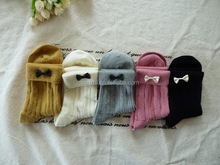 New Style Cute Turn-over Kawaii Bow Cotton Ankle Socks Ultra-thin Breathable Soft Cotton Socks