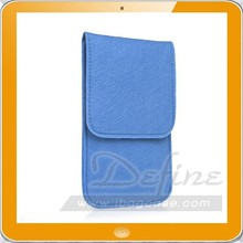 Felt Sleeve Case for Phone Blue Cell Phone Case Accessory Bags