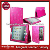 Hot Diamond Bling Case Cover For Apple iPad 2/3/4,Smart Case For ipad2/3/4