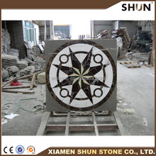 China Popular waterjet medallion round marble,waterjet medallion marble design pattern,natural marble polish water jet medallion