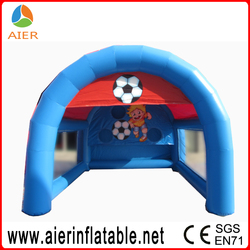 new dedign inflatable happy boy soccer football field gate for sale