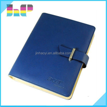 A3/A4/A5 size Embossed Leather Cover Notebook printing Cover With Sleeve