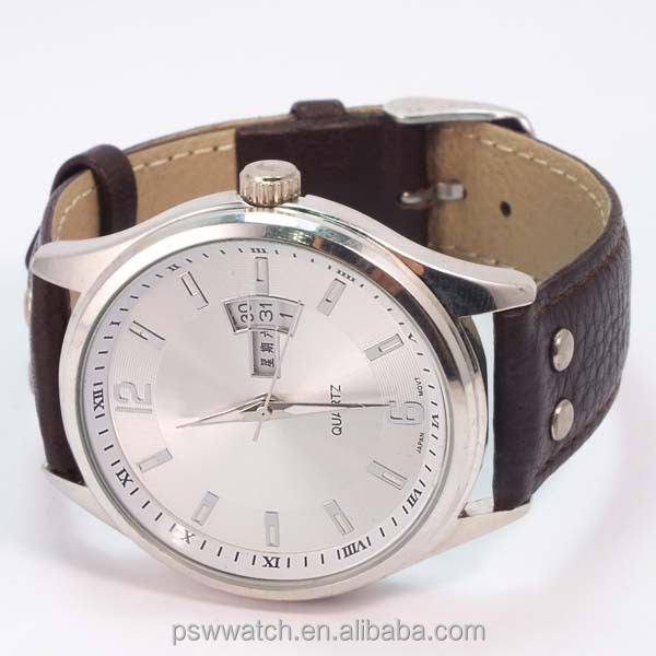 Couple design 3 atm water resistant watch leather trend design quartz watch stainless steel back watch man