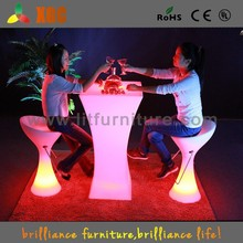 cheap led lighted club cocktail tables and chairs,led lighted furniture events rental tables GF312