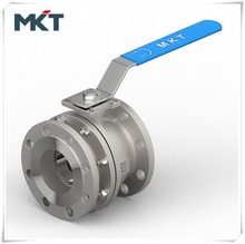 Factory Supply Stainless Steel Two-PC Flanged Ball Valve With Direct Mounting Pad