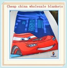 online wholesale school use blanket cars printed polar fleece blanket