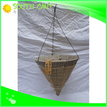 Stylish high grade natural material hanging baskets wholesale
