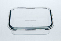 Microwave safe pyrex glass food container