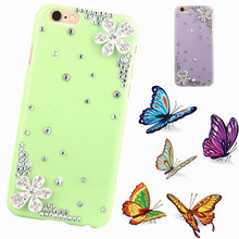 bling Floral phone case For apple iphone 5 5s 4 4s new fashion Rose mobile plastic Crystal Rhinestone hard back shell cover
