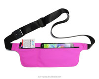 phone running spandex belt for iphone 6 / samsung galaxy s5 waist belt pouch