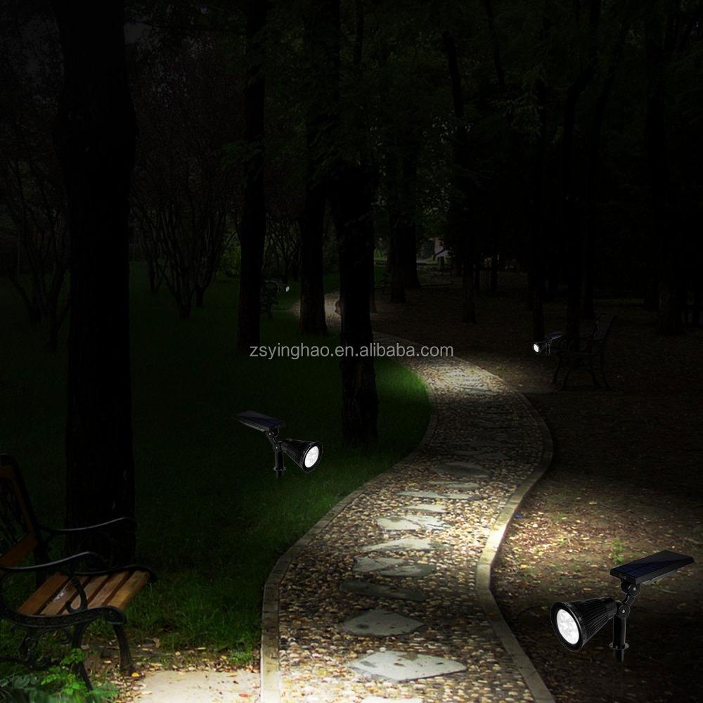 solar spot light outdoor garden landscape led spotlight lamp lighting. Black Bedroom Furniture Sets. Home Design Ideas