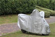 170T polyester coating silver ,cheap polyester/pvc motorcycle cover,anti-uv motercycle cover for wholesales