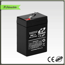 sealed mf battery 6v 2.5ah PASS CE&ISO9001