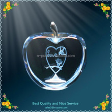 personalized 3d crystal wedding gift,custom design 3d laser crystal paperweight as wedding souvenir