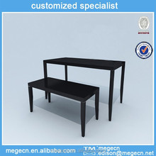 wooden clothes display stand